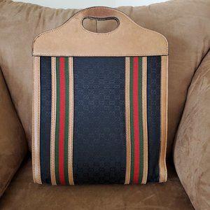 Unisex Black Vintage Gucci Shopper Tote Handbag